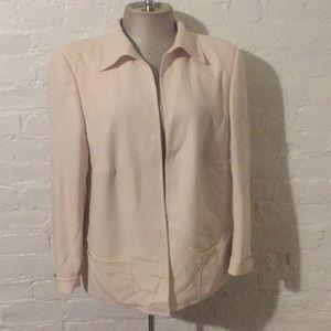 Akris Bergdorf Goodman Vintage Silk Cream Jacket